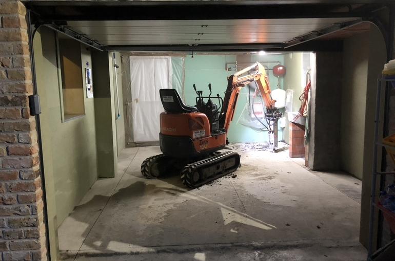 Vernieuwing garagevloer in gepolierd beton 1