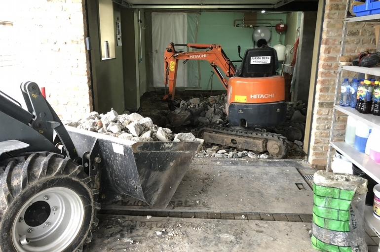 Vernieuwing garagevloer in gepolierd beton 3