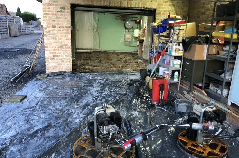 Vernieuwing garagevloer in gepolierd beton 5