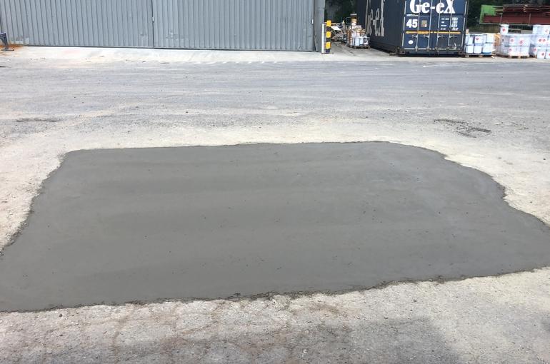 Herstellen van parking voor aanhangwagens 9