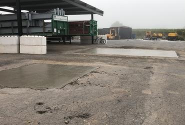 Herstellen van parking voor aanhangwagens
