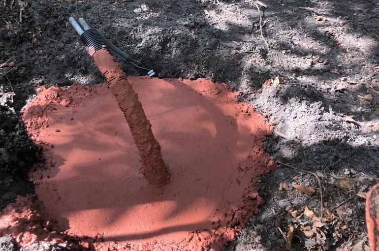 Rode gepolierde betonvloer 27