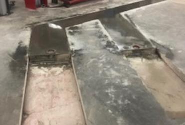 Herstelling van bestaande betonvloer in garage