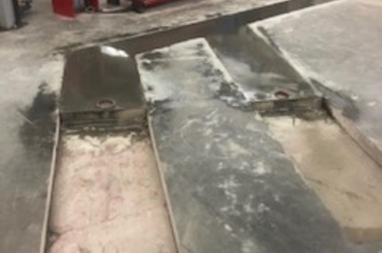 Herstelling van bestaande betonvloer in garage 1