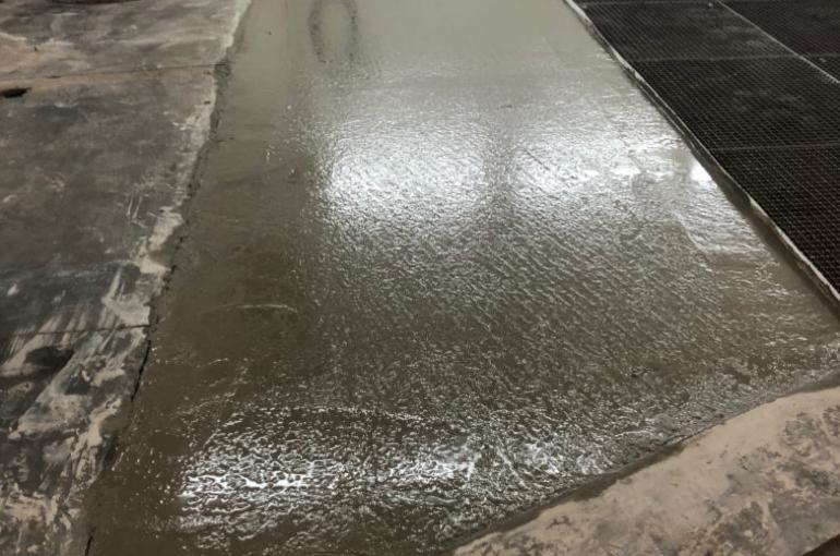 Herstelling van bestaande betonvloer in garage 6