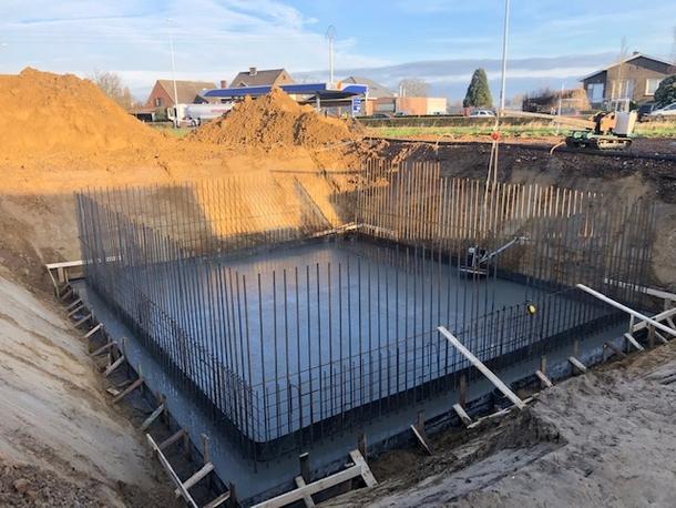 Gepolierde keldervloer voor nieuwbouwproject