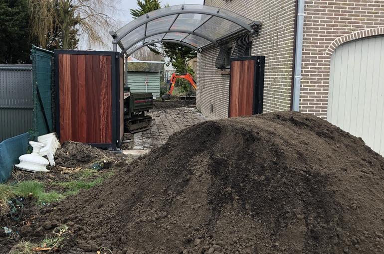 Terras en oprit in gepolierd beton 5
