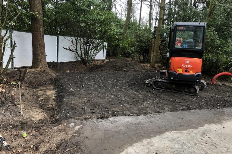 Vervangen van asfalt door betonvloer 2