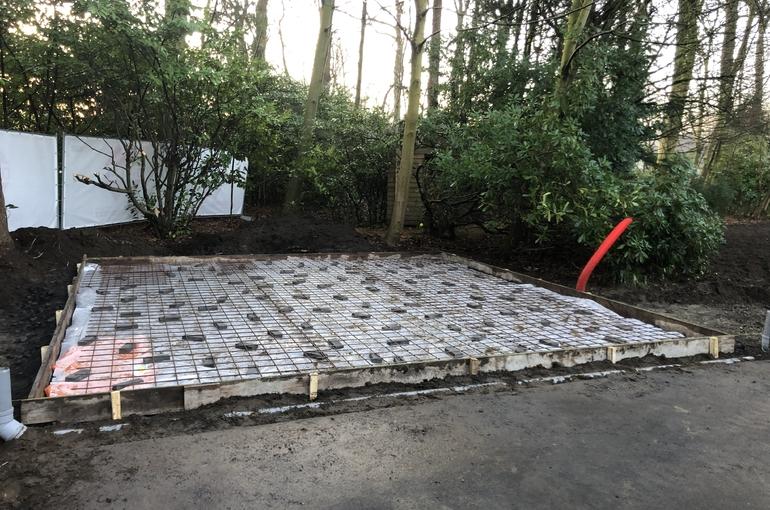 Vervangen van asfalt door betonvloer 3