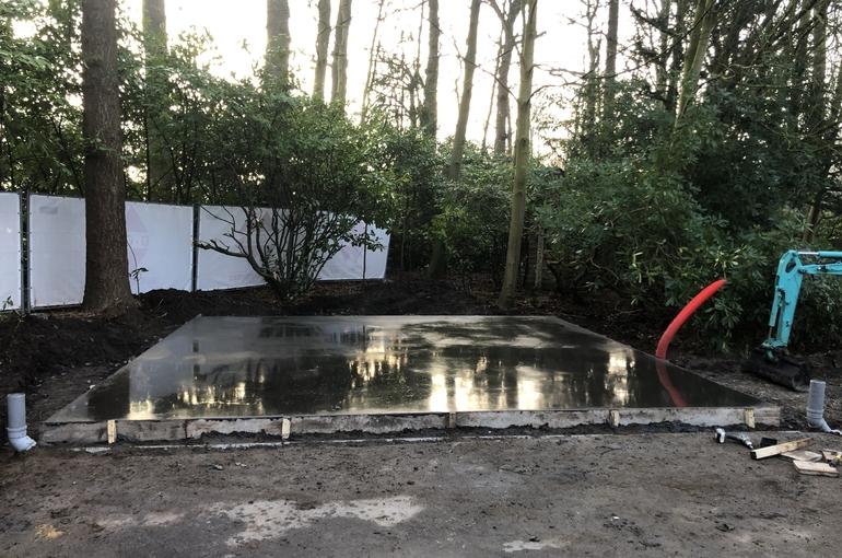 Vervangen van asfalt door betonvloer 5