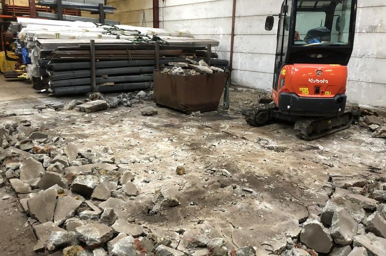 Vervangen oude betonvloer 2