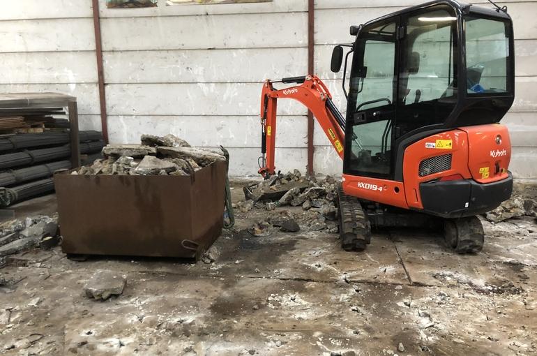 Vervangen oude betonvloer 3
