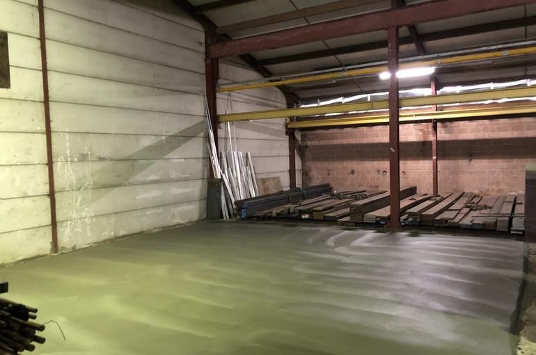 Vervangen oude betonvloer 6